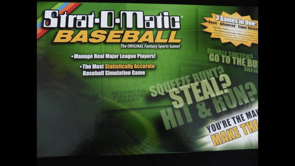 PART 1 : How to play Strat-O-Matic Baseball – INTRODUCTION
