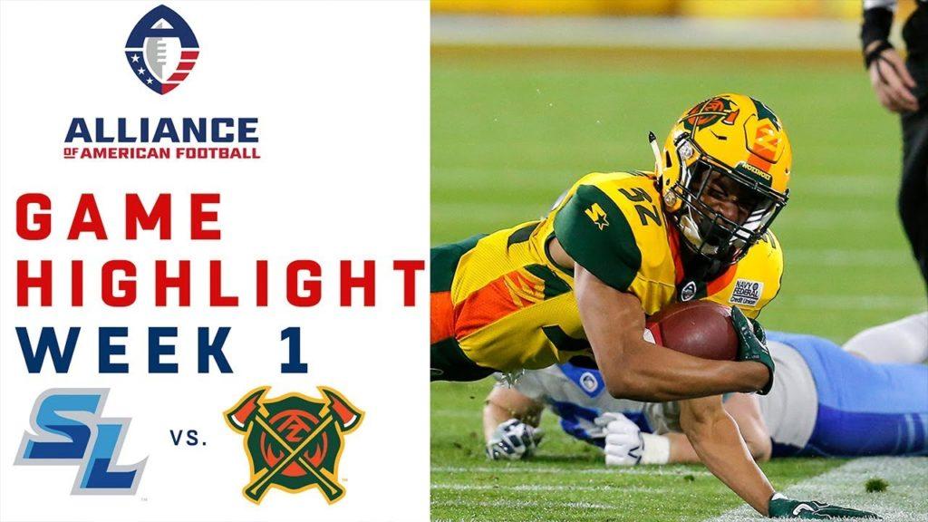 Salt Lake Stallions vs. Arizona Hotshots   AAF Week 1 Game Highlights