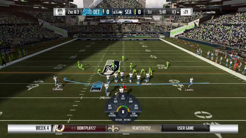 Madden 19 League of Thrones S#4 week 4 Seahawks vs Lions