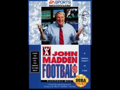 John Madden Football 1993 Sega Game 2 Houston  vs Seattle Divisional playoff Game