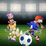 Sonic, Tails, Knuckles, and Amy play Football at the London Games