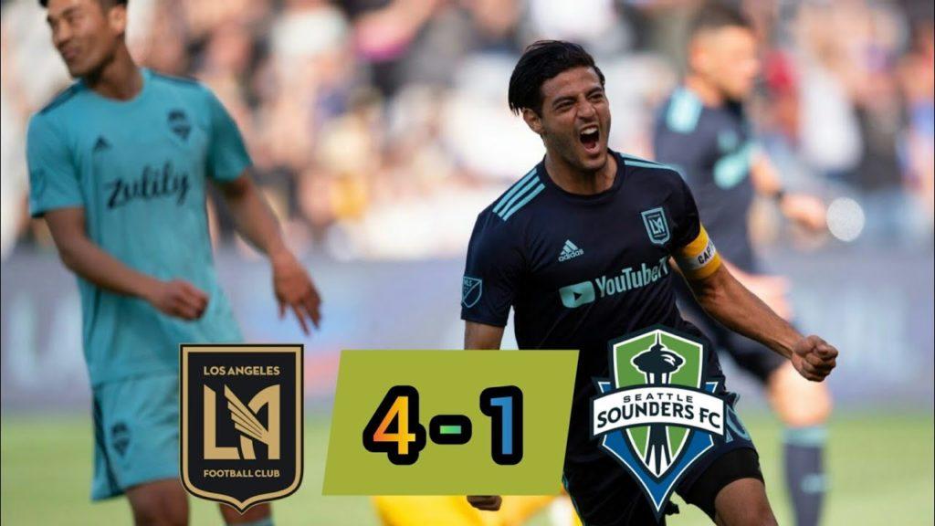 Los Angeles FC vs Seattle Sounders [4-1]  MLS Highlights 22.04.2019