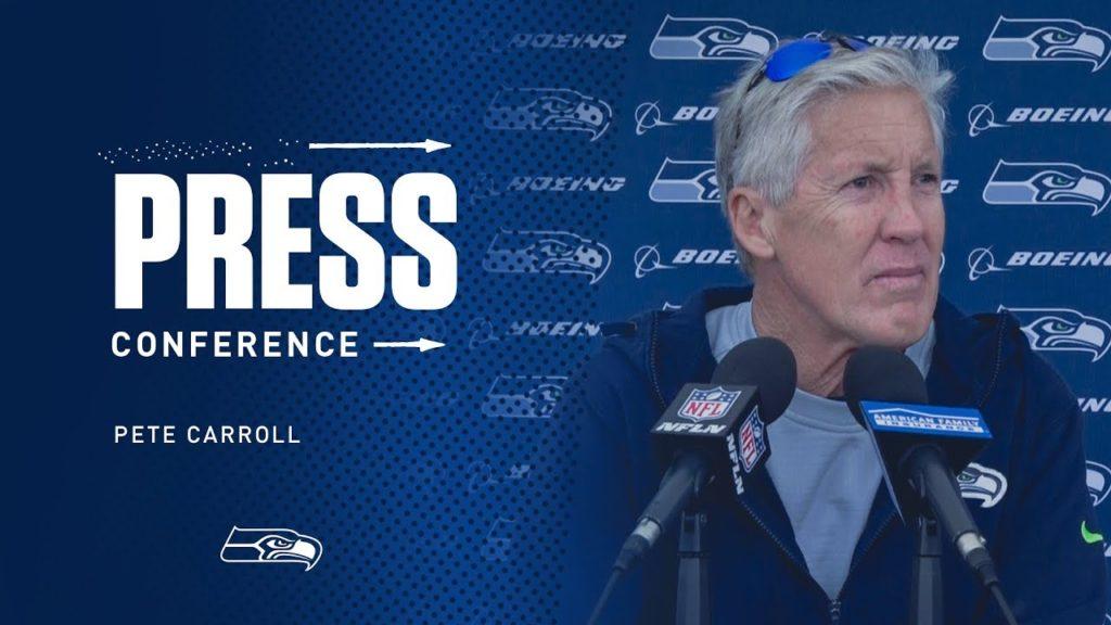 Seahawks Head Coach Pete Carroll OTAs Day 2 Press Conference
