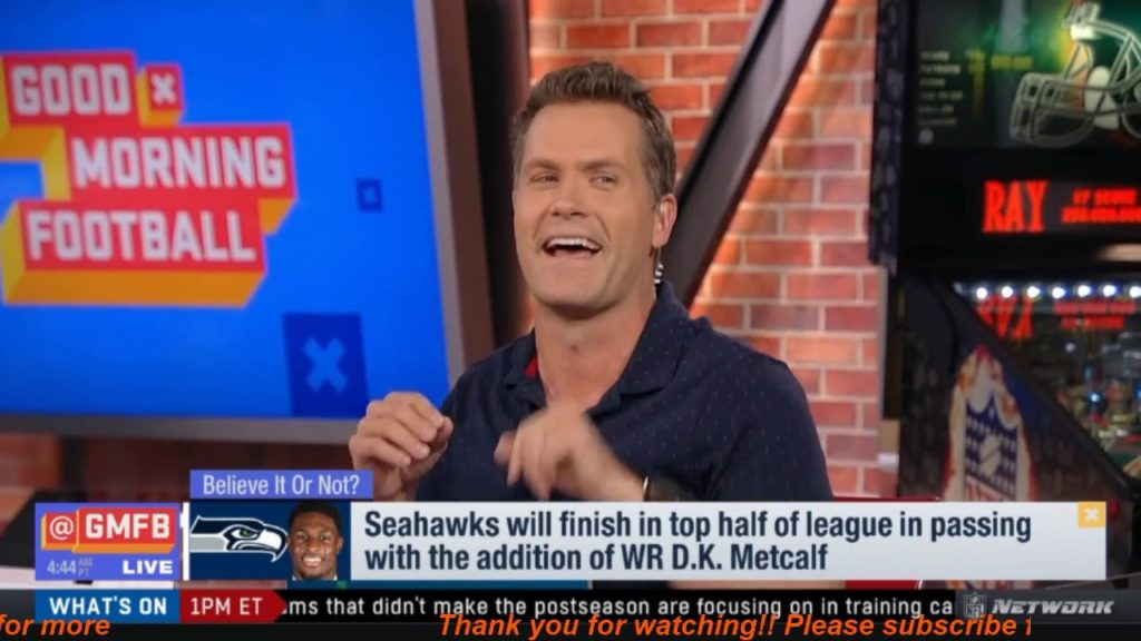 "Good Morning Football | Peter Schrager ""heated""Seahawks will finish in top half of league in passing"
