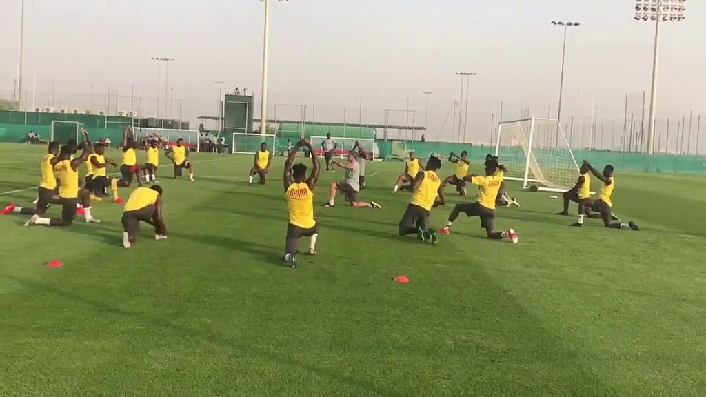 Black Stars players undergo physical endurance exercise ahead of AFCON 2019