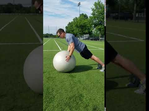 Stability Ball Exercises- SB Push Up