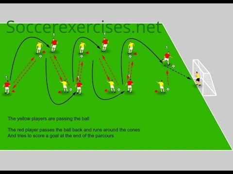 Speed passing and sprinting drill – Soccer Exercises #24