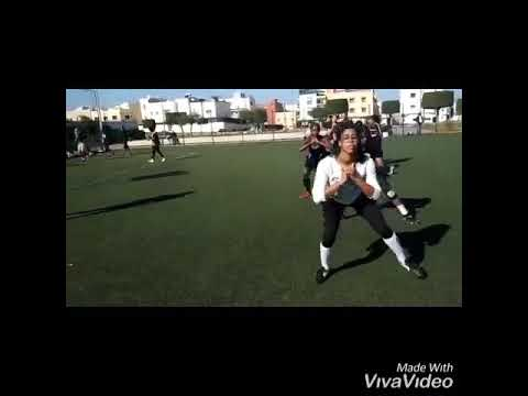 A motivational video of a group of exercises for the American ball in Morocco