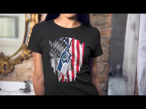 Official Seattle Seahawks American flag shirt