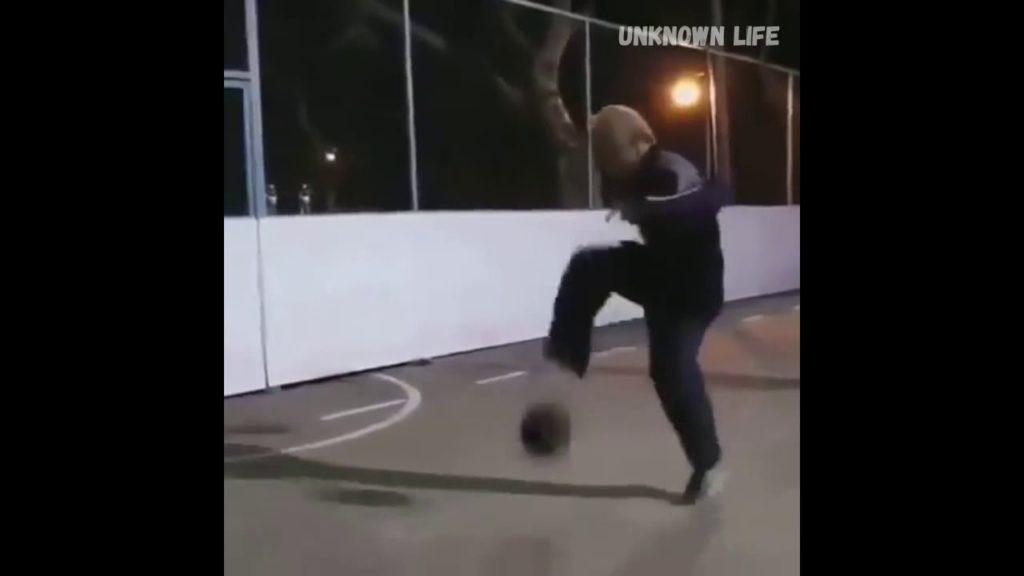 Grandpa teaches how to play football