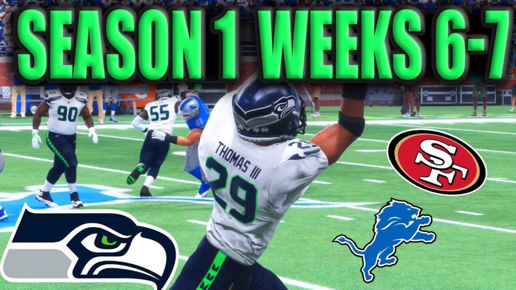 Madden 18 Seahawks Franchise Season 1: Weeks 6-7 Vs. Lions and 49ers [Ep.7]
