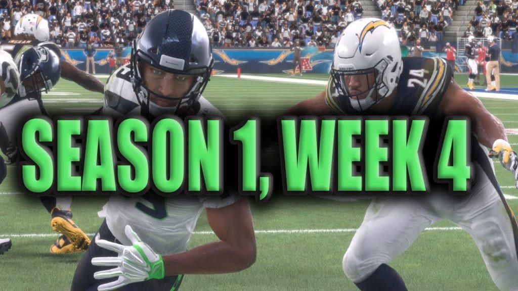 Madden 18 Seahawks Franchise Season 1: Week 4 Vs Chargers [Ep.5]