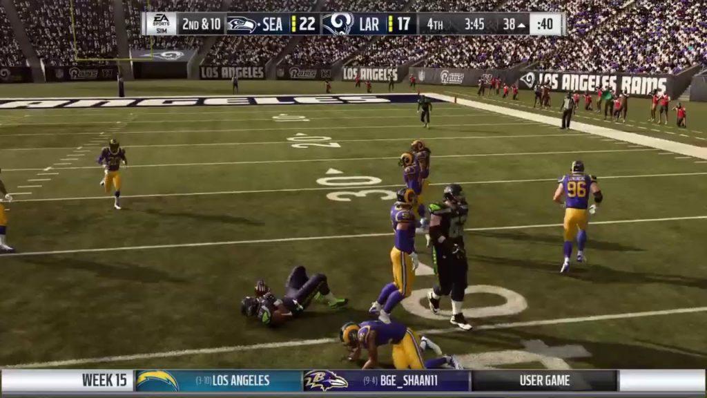 Season 16 – Week 15: Seattle Seahawks vs Los Angeles Rams