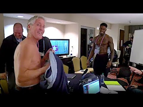 Seahawks DB's Shaquem & Shaquill Griffin's Reaction to Shirtless Pete Carroll | The Rich Eisen Show