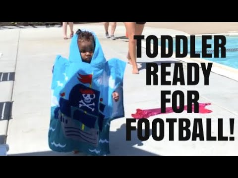 TODDLER READY TO PLAY FOOTBALL!