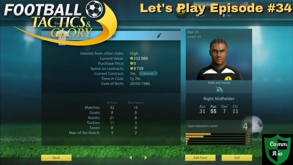 Edge's Final Game-Let's Play Football Tactics & Glory Ep. 34