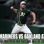 Seattle Mariners vs Oakland Athletics, MLB Free Pick for Tuesday, July 16, 2019