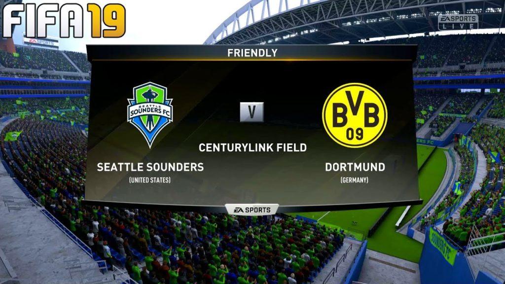 FIFA 19 | Seattle Sounders vs Borussia Dortmund – Club Friendly – Full Match & Gameplay
