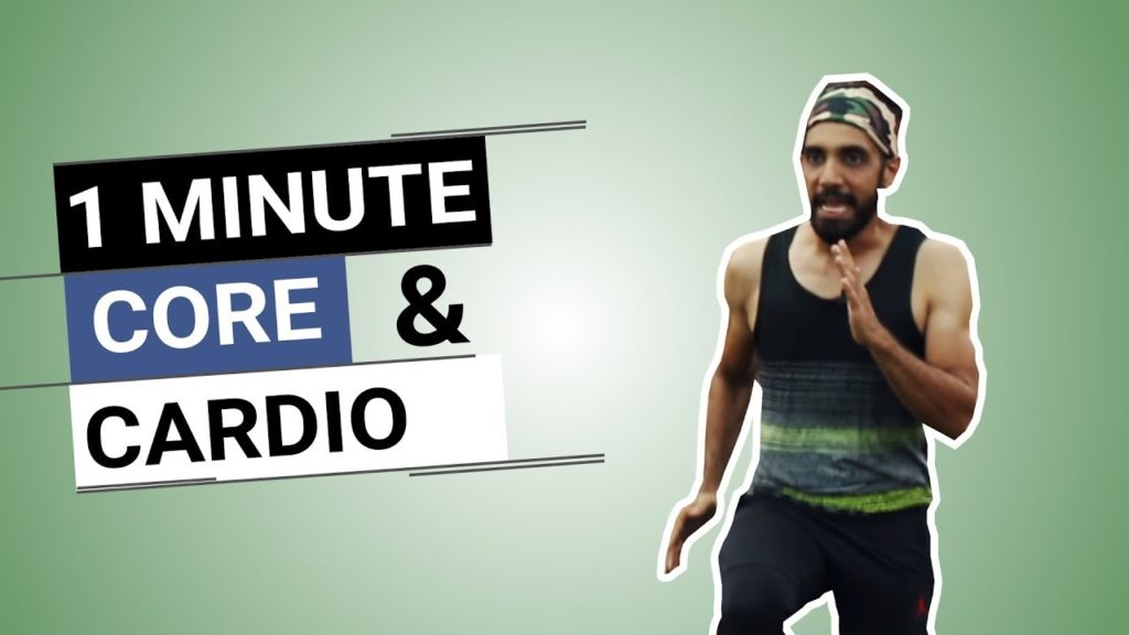 1 Minute Core & Cardio Exercises | Home Workout for Men & Women|