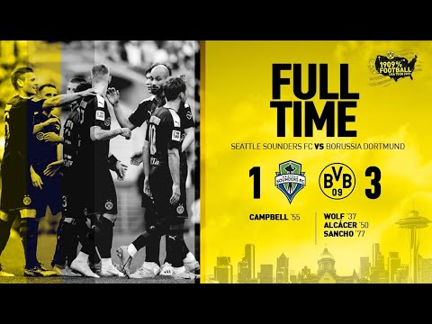 Seattle vs borussia dortmund HD (1-3 ) pre season match