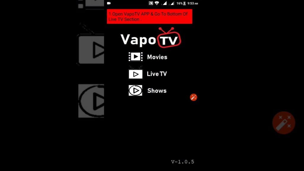 How To Play Football Channels in VapoTV APP