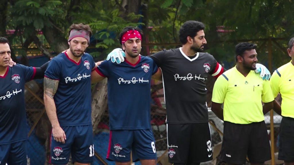 Ranbir Kapoor, Abhishek Bachcahn, Ahan Shetty & Others Playing   Football Match