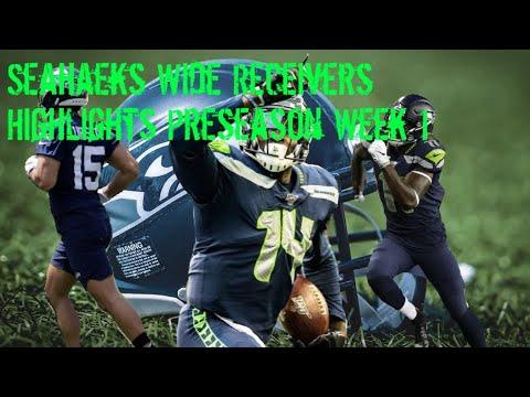 Seahawks Wide Receiver Highlights Preseason Week 1