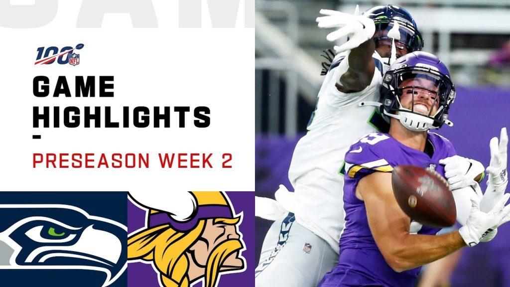 Seahawks Vs Vikings Preseason Week 2 Highlights Nfl 2019