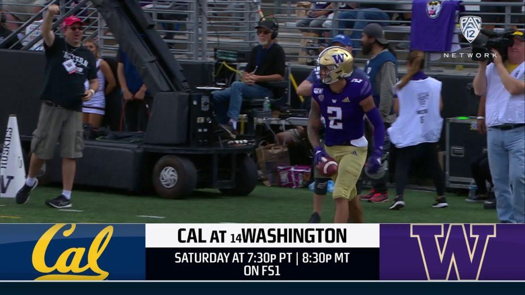 Football: Pac-12 Networks Washington-California Game Preview