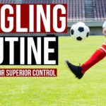 Football Juggling Skills For Kids and Beginners – 15 Minute Juggling Routine