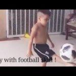 Baby play football….