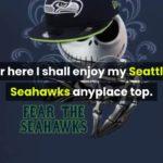 [jack skellington costume] Jack Skellington fear the Seattle Seahawks shirt, hoodie