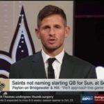 Dan Orlovsky reacts Saints not naming starting QB at Seahawks & Ramsey will play at Titans | ESPN SC