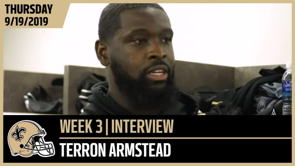 Terron Armstead Preparing For Noise in Week 3 at Seattle | New Orleans Saints Football