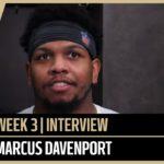 Marcus Davenport Talks Preparing for Seahawks Russell Wilson   New Orleans Saints Football