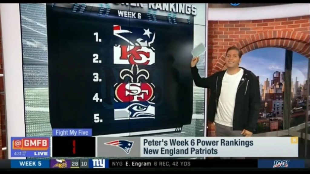 GMFB | Peter's Week 6 Power Rankings: 5. Seahawks; 4. 49ers; 3. Saints; 2. Chiefs & 1st: PATRIOTS