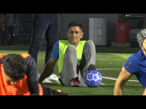 Watch: MS Dhoni, Arjun Kapoor, Leander Paes play football