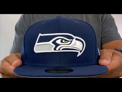 Seattle Seahawks NFL TEAM-BASIC Navy Fitted Hat by New Era