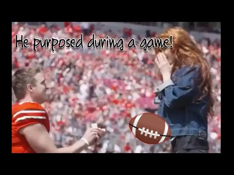 COLLEGE FOOTBALL PLAYER Purposes to girlfriend during a GAME!!!