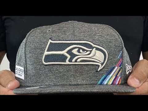 Seattle Seahawks ONFIELD CRUCIAL CATCH Grey Fitted Hat by New Era
