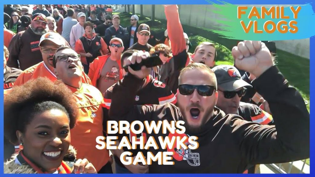 Family Football Traditions|| Baker Mayfield and Russell Wilson|  Browns VS Seahawks Game