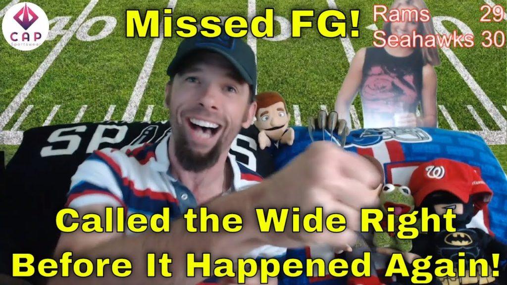 Rams Vs Seahawks Missed Field Goal Live Reaction   LA vs SEA Thursday Night Football