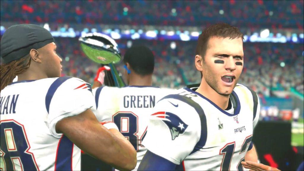 Madden 20 Color Rush New England Patriots Tom Brady vs Seattle Seahawks Super Bowl 55