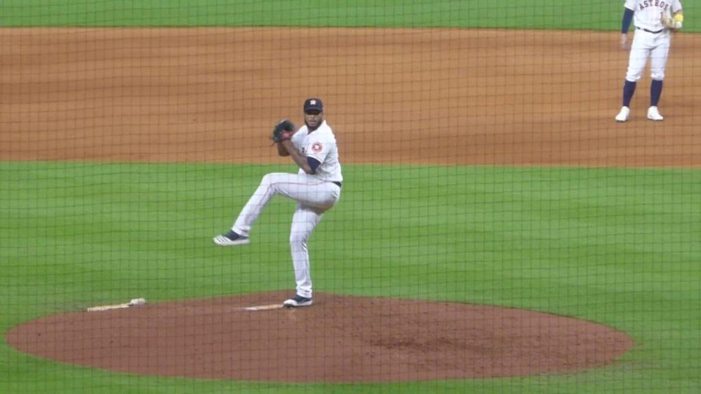 Josh James pitching…Astros vs. Mariners…9/7/19
