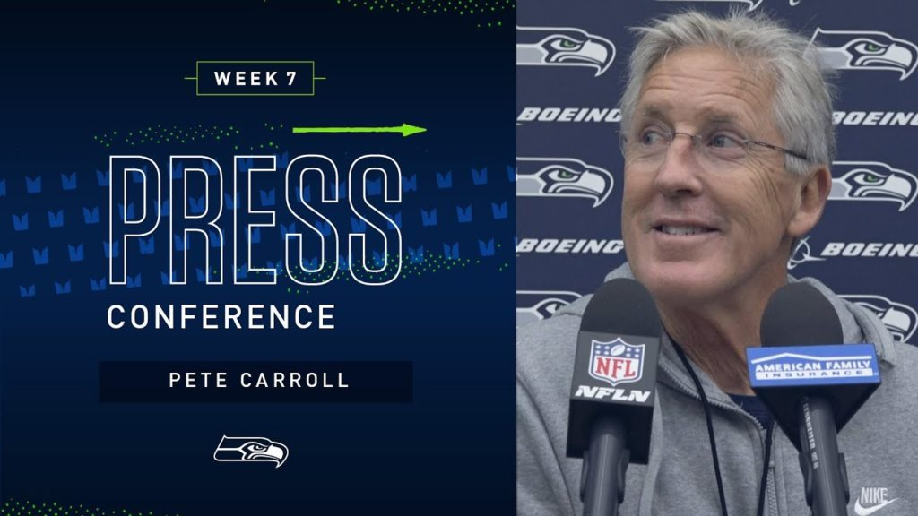 Head Coach Pete Carroll Week 7 Friday Press Conference | 2019 Seattle Seahawks