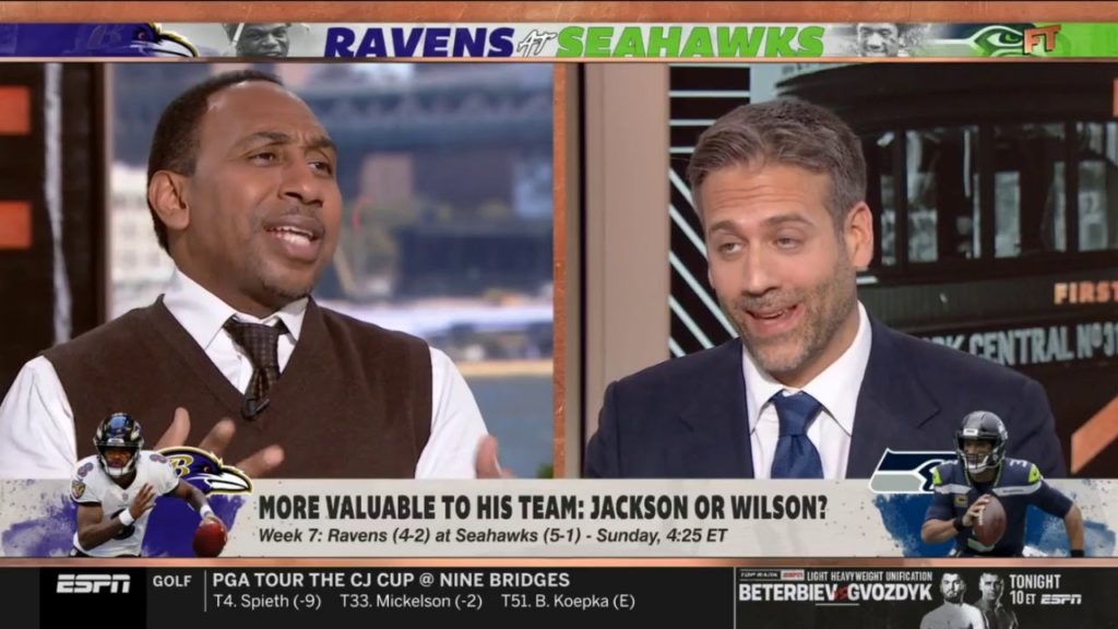"Stephen A. COMPARES: Wilson vs Jackson as ""giants vs tiny"" & Seahawks will crush Ravens – First Take"