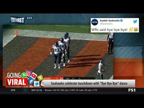 """Cris Carter reacts to Seahawks celebrate touchdown with """"Bye Bye Bye"""" dance 
