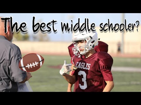 Is This the BEST MIDDLE SCHOOL FOOTBALL PLAYER!?