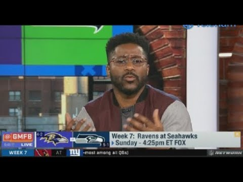 "GMFB | Nate Burleson ""ecstatic"" Wk 7: Ravens at Seahawks; Marcus Peters expected to play"