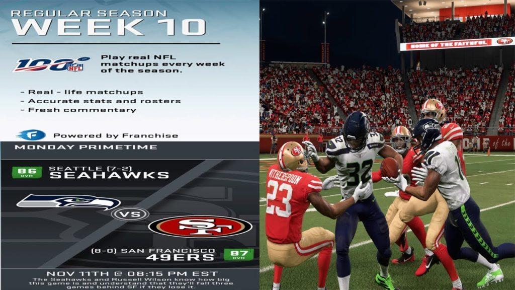 Seattle Seahawks vs San Francisco 49ers | Week 10 NFL Gameplay 11.11.19